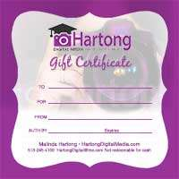 Hartong Digital Media Gift Certificates for camera lessons