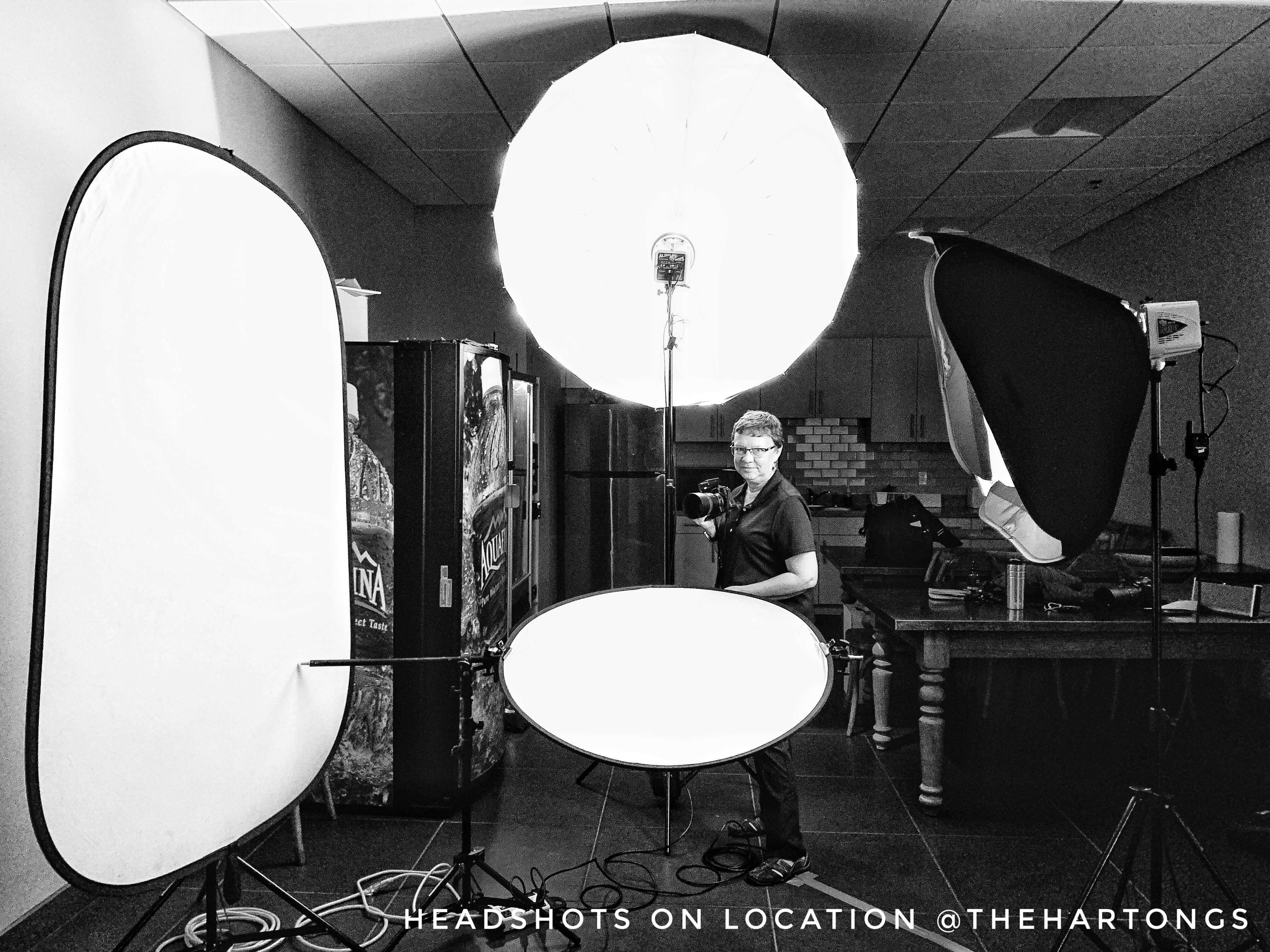 photo studio in break room