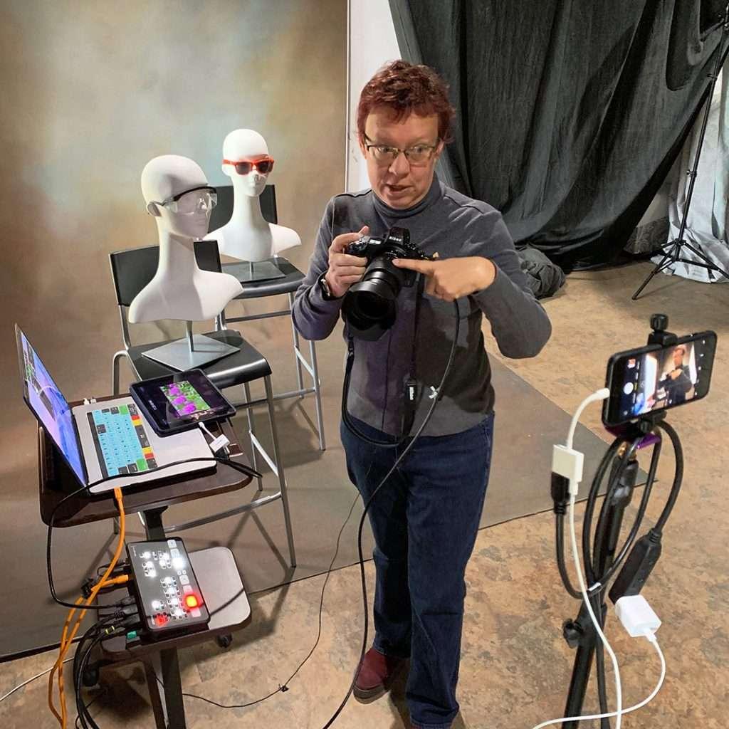 virtual camera lesson via multicamera live training